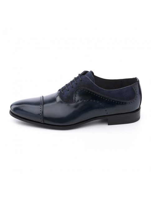 OXFORD FAB SUEDE CALF BLUE NAVY - MODEL 5815 - SERGIO SERRANO