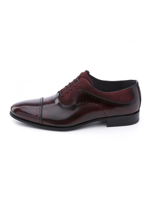 OXFORD FAB SUEDE CALF BURGUNDY - MODEL 5815 - SERGIO SERRANO