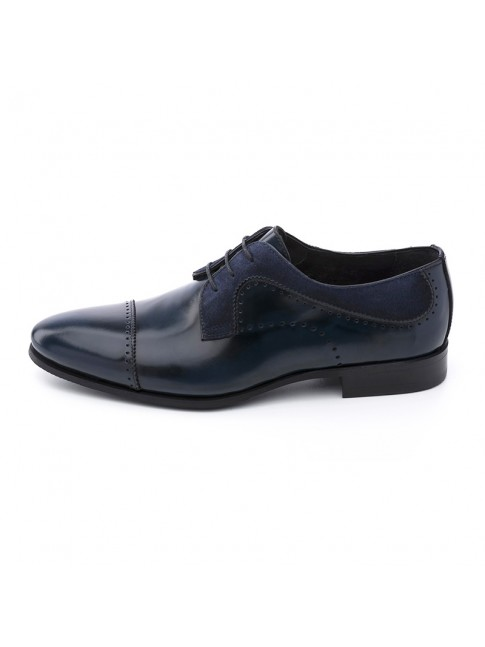 BLUCHER FAB CALF SUEDE BLUE NAVY - MODEL 5816 - SERGIO SERRANO