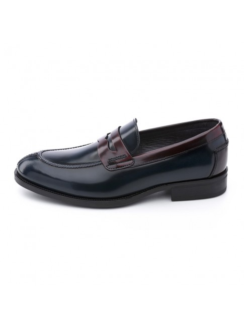 LOAFERS BLUE NAVY / BURGUNDY - MODEL 8408 - SERGIO SERRANO
