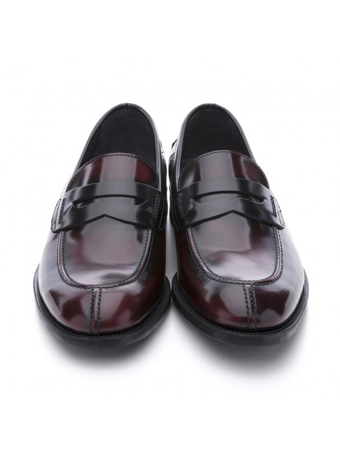 LOAFERS BURGUNDY BLACK - MODEL 8408 - SERGIO SERRANO