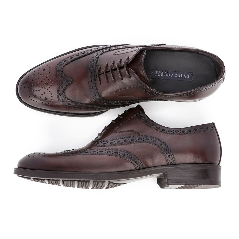 32809de94d52d4 ➨OXFORD MURANO BROWN shoe made in LEATHER