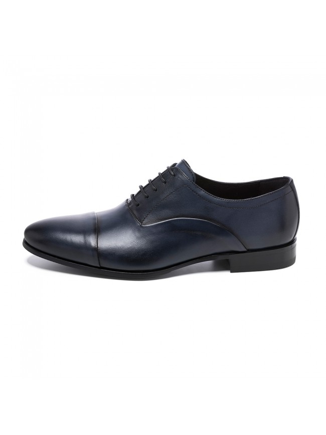 OXFORD INVERTED STITCH BROWN BLUE NAVY - MODEL 5802 - SERGIO SERRANO