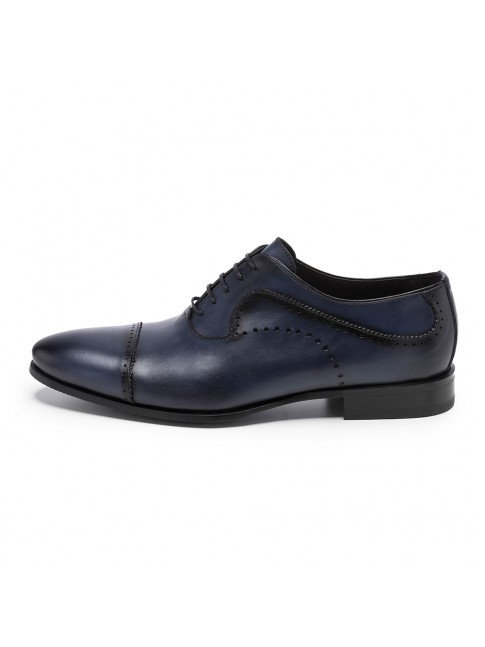 BLUCHER HOLES CALF BLUE NAVY - MODEL 5815 - SERGIO SERRANO