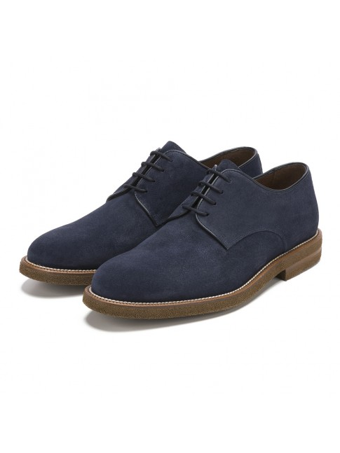BLUCHER LISSE POMEZ OIL BLUE MARINE