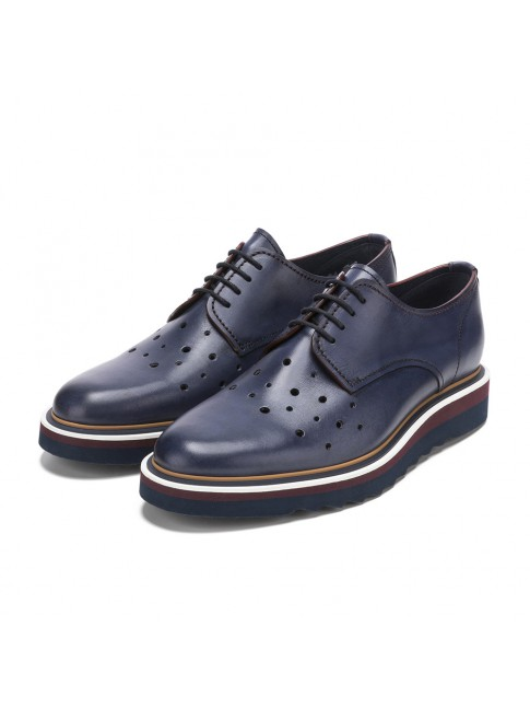 CASUAL BLUCHER PERFORATED BLUE NAVY