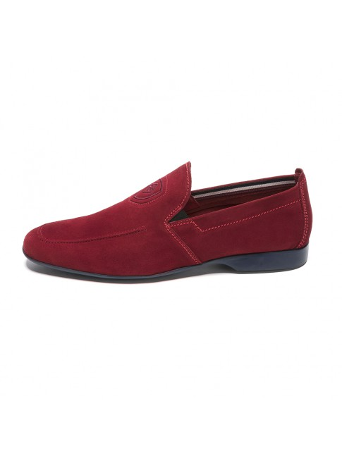LOAFER LISSE SUEDE ROUGE