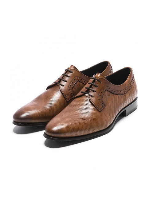 BLUCHER PERFORATED MURANO BROWN COGNAC