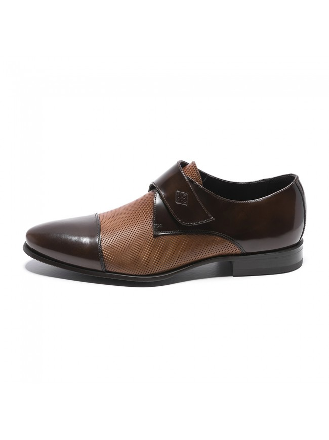 VELCRO LEATHER THOUSAND POINTS BROWN COGNAC