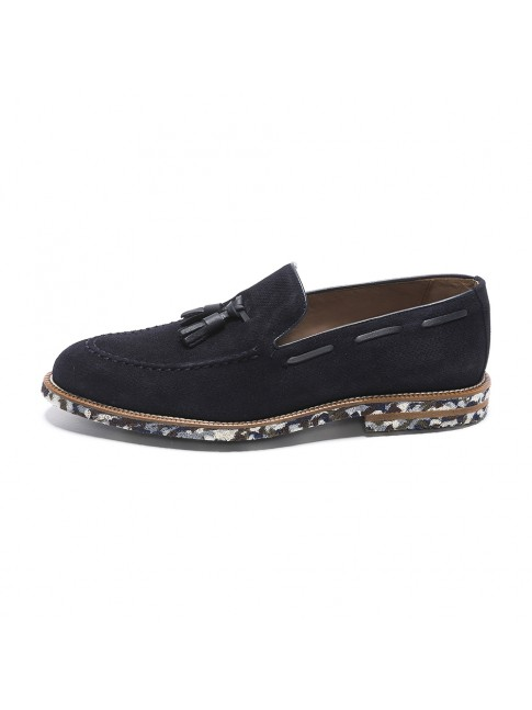 LOAFER MULTI OIL BLU