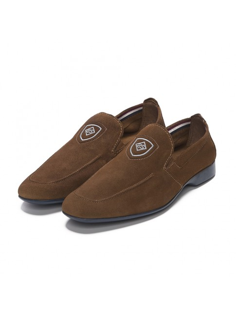 LOAFER LISSE SUEDE MARRONE